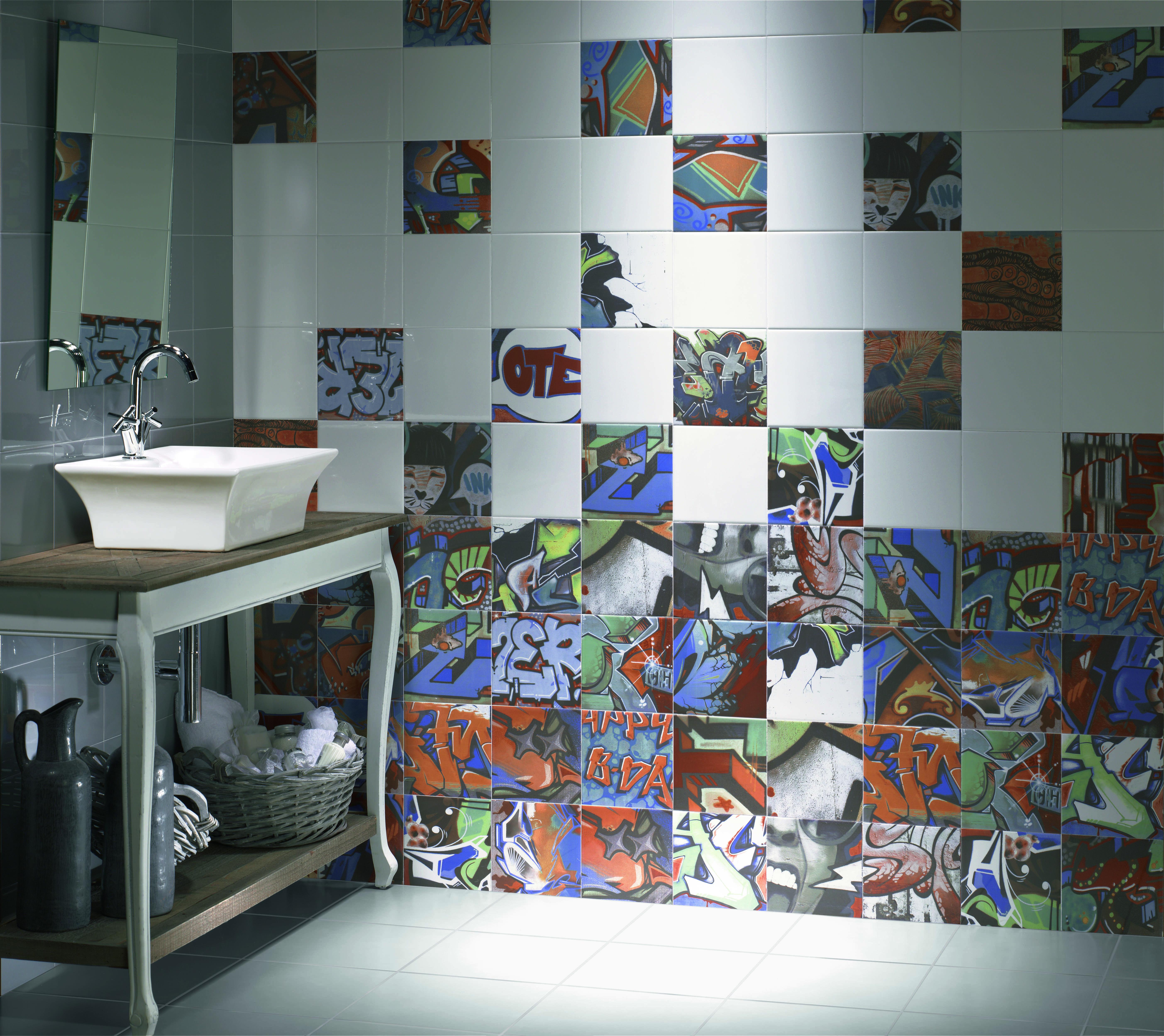Graffiti wall tiles - One