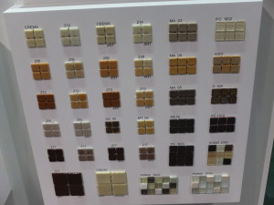 Close up of the Togama display at Coverings 13