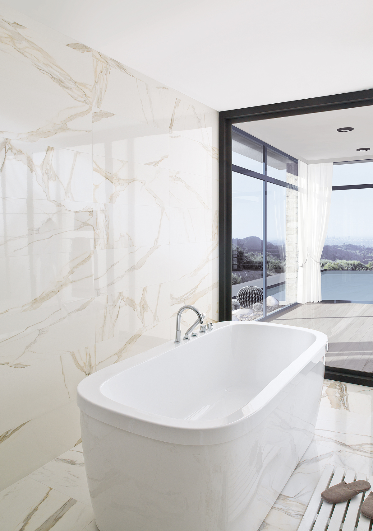 Porcelanosa calacata for Faience salle de bain nature
