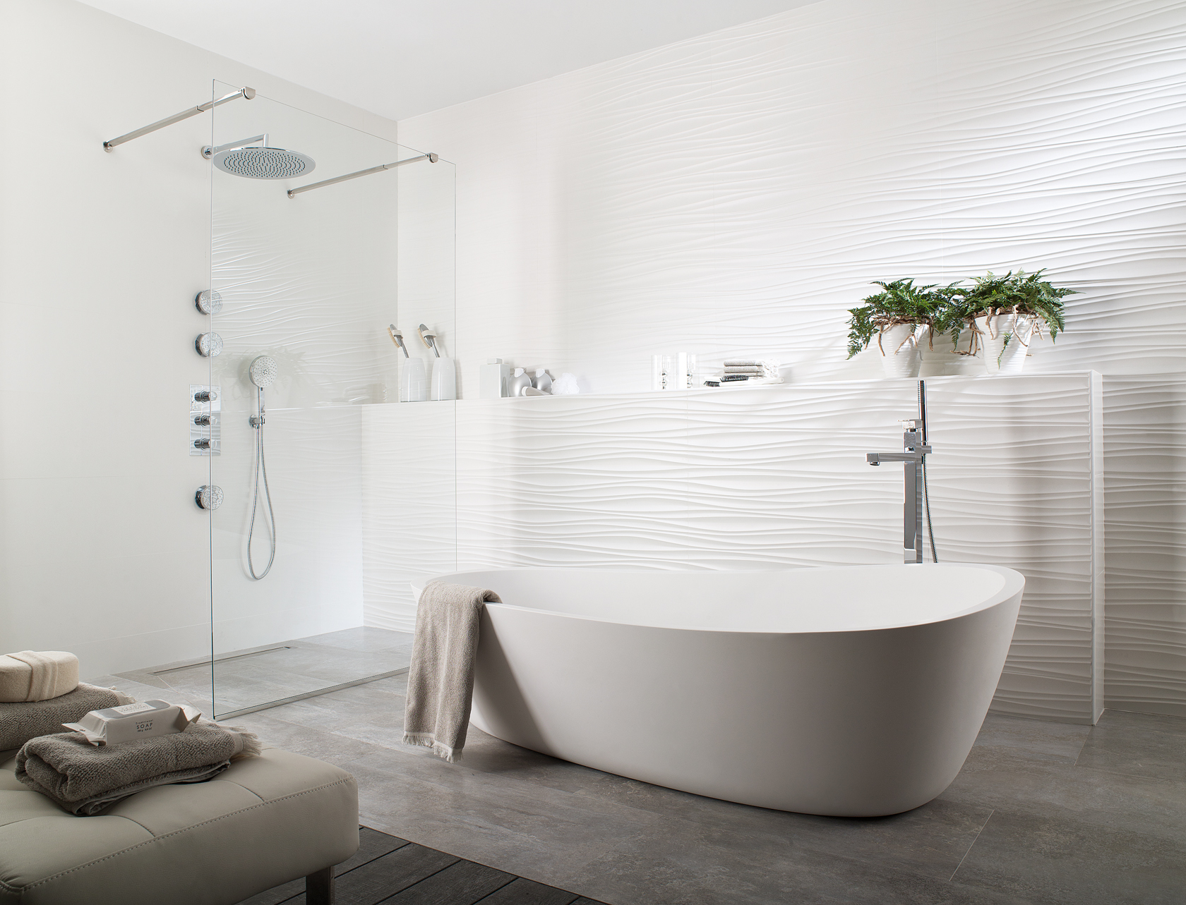 Porcelanosa oxo line for Porcelanosa douche