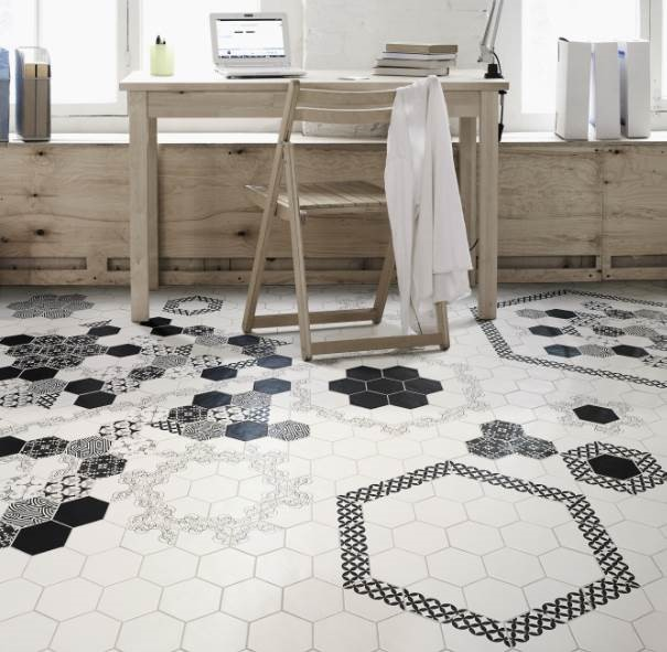 Mixed Tile Floor Tile Design Ideas
