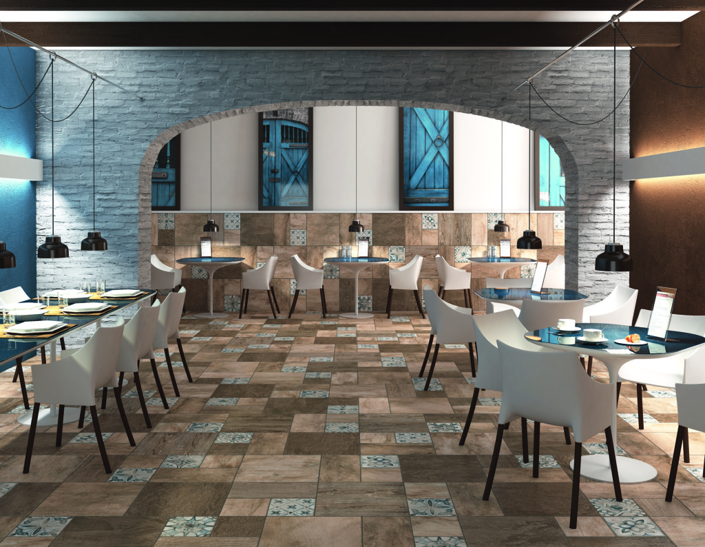 Patchwood series tile from Arcana.