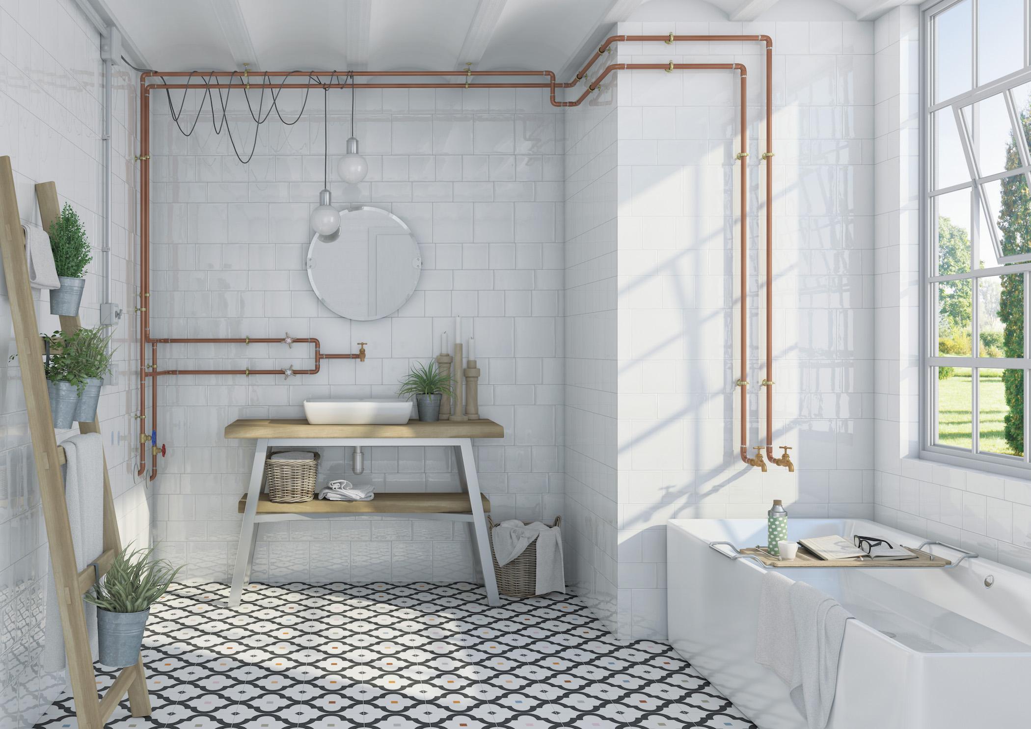 Tile create harmony in white - Tile of Spain | tileofspainusa.com