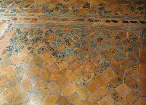 Floor of the Aljaferia Palace in Zaragoza