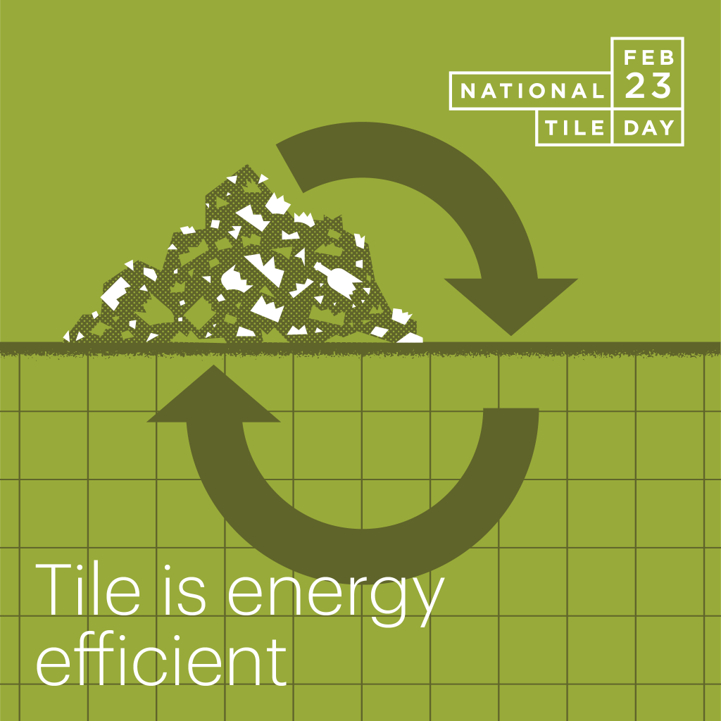 Why Tile? It is energy efficient.